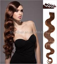 tape hair extensions 40pcs/lot for Fashions Women virgin malaysian hair