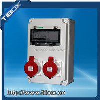 TIBOX IP44 new waterproof plastic power combination lock socket box