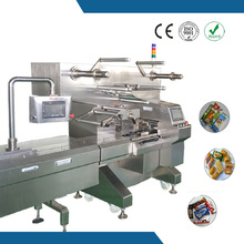 Handy installation and automatic film splicer function biscuit pillow packaging machine