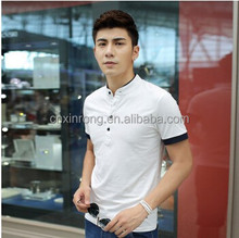 classcial fashion solid color short sleeve slim fit men's nice polo shirt