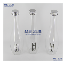 plastic pet clear water juice beverage bottle 300ml for take away