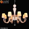 Plastic crystal chandeliers decoration ceiling light brass chain chandelier OMG88619-8W