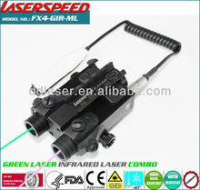 subzero outdoor hungting rifle mounted GREEN LASER+INFRARED laser sight picatinny
