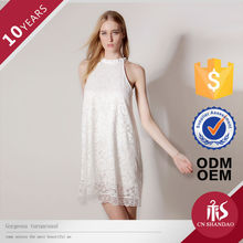 Latest Dress Design Halter Lace Sleeveless Pictures Of Elegant Casual Dresses