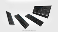 Ultrathin new designed wireless bluetooth keyboard with USB port, touch pad can be optional