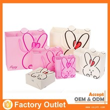 Hot sale custom luxury recycle cute printed shopping paper gift bag