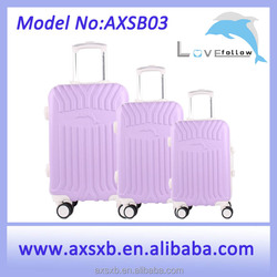 ABS waterproof oil proof ABS+PC travel trolley hard shell printing promotion aluminum frame case in 20, 24, 28