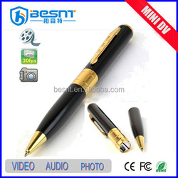 2015 new products Battery Powered HD 720P Mini pen microphone with camera (BS-729P)