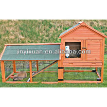 Newest item ! Rabbit Hutch with Outdoor Run and Wheels / 7 doors wooden rabbit house