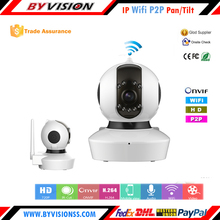 P2P Pan/Tilt Infrared Night Vision Wireless PTZ Smart Home IP Camera, mini wireless camera