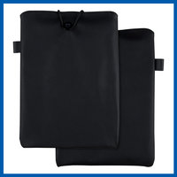 C&T Black high quality leather pouch case for ipad mini