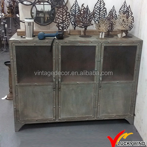 Aged Antique Style Industrial Metal Furniture LWNM11254