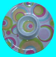 38*H6cm christmas round melamine snack tray with full printing (ITEM NO. CSD1011-3)
