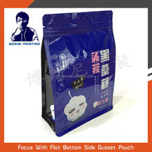 BOSINI / safety food grade Stand up snack plastic packaging bag and eight side seal pouch