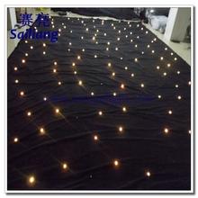 2x3/4x4/4x6 rgb white led star cloth/led star cloth curtain/led star cloth