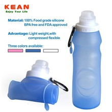 2015 hot selling flexible bpa free silicone disposable protein shake bottle