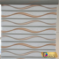 Wholesale Pleated Zebra Blinds Fabric/Zebra Blinds Manufacturers/bedroom curtains