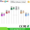 Colorful Aluminium Housing Round MFI Cable, 8 Pin Adapter Micro Mfi USB Cable for iPhone
