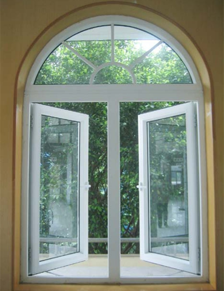 Half Hung Windows : Aluminum side hung casement window with half round spoked