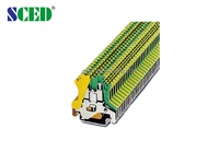 Width 4.2mm Din Rail Terminal Blocks Ground Terminal Blocks used for industrial control
