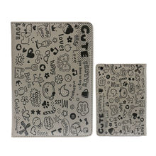 Flip PU leather Smart Case For iPad mini 2 Retina Capa Soft Cover Cipadute Cartoon With Stand Design