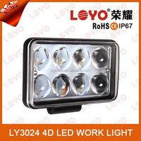 Guangzhou manufacturers 24W Led Work light, high quality led driving lights for road vehicles led work light for motorcycle