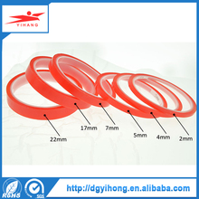 red liner pet material double side tape with acrylic adhesive coated apply in stationery advertising material bonding