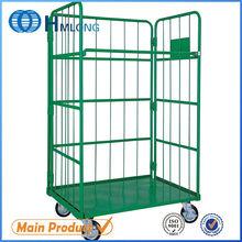 3 lados contenedores de paletas rollo de alambre de acero plegables resistentes