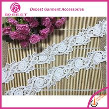 Manufacturer Fashion Hot White Bridal Lace Clothes Accessorie Lace Trim