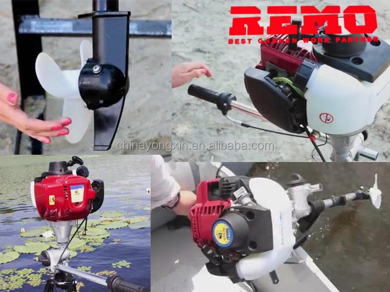 outboard motor 4 stroke GX35 boat engine inflatable canoe use trolling motor