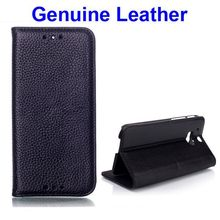 Litchi Pattern Wallet Style Genuine Leather Cheap Mobile Phone Cases for HTC One M8