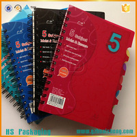 double wire bound removable spiral notebook with divider