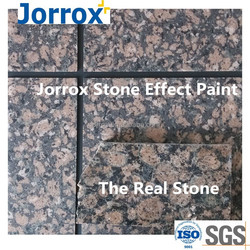 Water repellant stone wall paint for construction