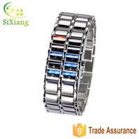2015 Hot sale LED watch men red blue light women vogue style wrist watch unisex