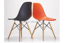 The leisure and colorful garden or outdoor wooden legs emaes chair