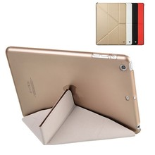 Smart Cover Partner Transparent Back+Magnetic PU Leather Case for iPad mini
