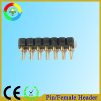 Through-hole/SMT gold-plated male pin header connector