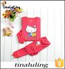 2015 New arrival hello kitty baby girls pajamas children winter clothes animal sleepwear