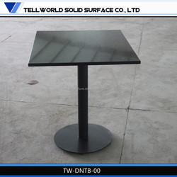 Western restaurant modern artificial marble top single leg dining table