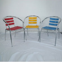 outdoor colorful stack garden leisure cafe folding outdoor rocking chair