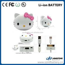 Portable emergency battery charger Hello kitty power bank for iPhone 6 Paypal accept
