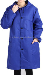 Antistatic acid resistant Long Lab coat hooded long gown