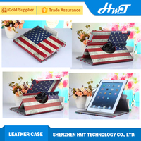 PU leather wallet case with 360 roating style shockproof case for ipad mini 4