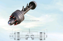 Widely Used American/German Type Trailer Axle