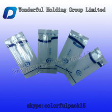 Plastic transparent toothpicks packaigng bag/mini tooth packing