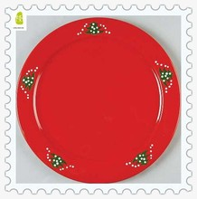 Personalized Red Christmas tree ceramic plate