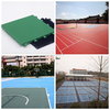 Outdoor plastic sports court floor tiles for basketball/badminton/tennis/volleyball court
