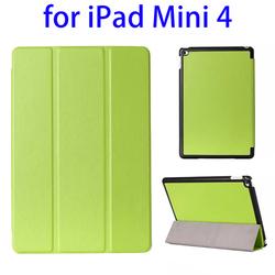 Wholesale price 3-folding Horizontal leather smart cover for ipad mini 4