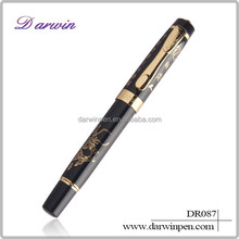 Multicolor ceramic pen fountain pen with dragon