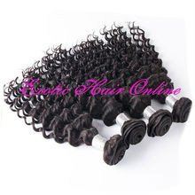 Exotichair 100% human hair ponytail unprocessed human hair extension remy hair weft